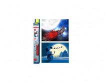 Фон Tetra для аквариумов двойной (СантаКлаус и Снеговик) высота 45 см.