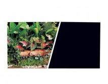 Фон двусторонний Hagen, высота 45см *7,5м  зеленые растения и черный фон