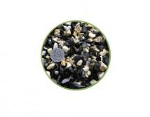 Грунт Nechay ZOO черно-белый средний 5-10мм, базальт и мрамор 10 кг.