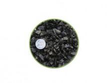 Грунт Nechay ZOO черный средний 5-10мм, базальт 2 кг.