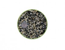 Грунт Nechay ZOO  черно-белый мелкий 2-5мм, базальт и мрамор 2 кг.