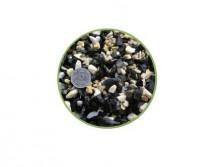 Грунт Nechay ZOO черно-белый средний 5-10мм, базальт и мрамор 2 кг.