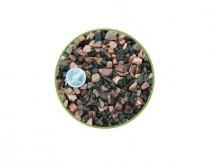 Грунт Nechay ZOO черно-розовый средний 5-10мм, базальт и кварцит 2 кг.