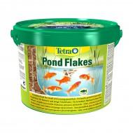 Корм Tetra Pond Flakes 10л смесь хлопьев для мелких рыб