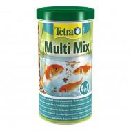 Корм для прудовых рыб Tetra Pond Multi Mix 1л смесь хлопьев, гранул, таблеток и гаммаруса