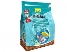 Корм Tetra Pond Multi Mix 4л смесь хлопья, гранулы, таблетки гаммаруса