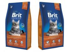 Сухой корм Brit Premium Cat Indoor 8 кг для живущих в помещении
