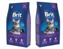 Сухой корм Brit Premium Cat Senior 8 кг для пожилых кошек