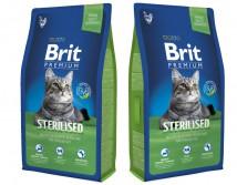 Сухой корм Brit Premium Cat Sterilized 8 кг для стерилизованных кошек