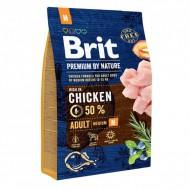 Сухой корм Brit Premium Adult M 3 kg (для взрослых собак средних пород)