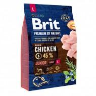 Сухой корм Brit Premium Junior L 3 kg (для щенков и молодых собак крупных пород)