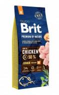 Сухой корм Brit Premium Junior M 15 kg (для щенков и молодых собак средних пород)