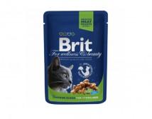 Консервы Brit Premium Cat pouch 100 г курица для стерилизованных котов