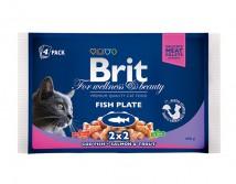 Консервы Brit Premium Cat pouch 400 г рыбная тарелка