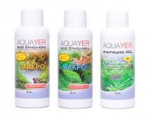 Набор удобрений Aquayer Микро+Макро+Альгицид+СО2 60 мл