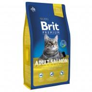 Корм для кошек Brit Premium Cat Adult Salmon 8кг для взрослых с лососем