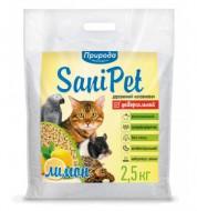 Наполнитель древесный Природа Sani Pet 2,5 кг Универсальный Лимон