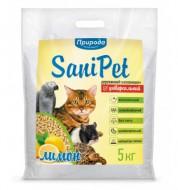 Наполнитель древесный Природа Sani Pet 5 кг Универсальный Лимон