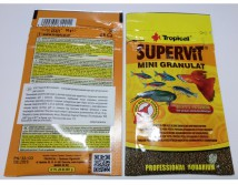 Корм Tropical SuperVit  mini Granulat 10g в гранулах для малька и молоди