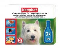 Капли Beaphar Caniguard Spot On от блох и клещей для собак средних пород и щенков - 1 пипетка