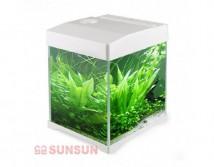 Аквариумный комплект SunSun AT 200D 10 литров, белого цвета