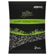 Грунт Aquael черный мелкий 2-4мм, базальт 10 кг