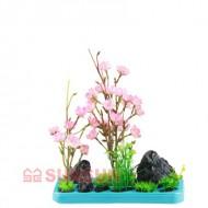 Набор SunSun FZ 102 декорация с пластиковым растением