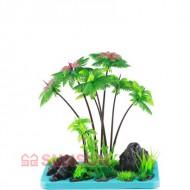 Набор SunSun FZ 105 декорация с пластиковым растением