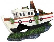 Декорация Trixie Затонувшая лодка 15 см, белая