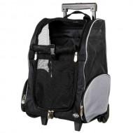 Сумка-рюкзак для маленьких животных Trixie T-Bag Trolley на колёсах до 8 кг, черный