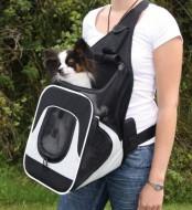 Сумка-переноска для маленьких животных Trixie Savina Front Carrier до 10 кг, серая