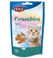 Витаминизированное лакомство Trixie Crumbies with Malt для выведения комочков шерсти, 50 грамм