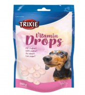 Trixie Витаминные дропсы Trixie Drops with Yoghurt для собак, 200 грамм