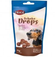 Витаминные шоколадные дропсы Trixie Chocolate Drops для собак, 75 грамм
