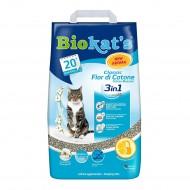 Наполнитель бентонитовый Biokats Fior di Cotton (3in1) 5 килограмм