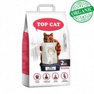 Наполнитель бентонитовый Top Cat mini 2 килограмма для кошек, (0,8 - 1,5 мм) с лавандой