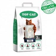 Наполнитель бентонитовый Top Cat normal 2 килограмма для кошек, (1,5 - 2,5 мм) с лавандой