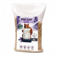 Наполнитель древесный Top Cat FreshLine Lavander 3 килограмма для кошек с лавандой