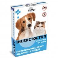 Капли от блох и клещей ТМ Природа ProVET Инсектостоп 6 пипеток по 0.8 на холку для котов и собак