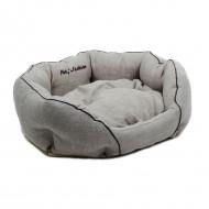 "Лежак для собак и кошек ТМ Природа ""Кантри"" 2 бежевый 60х46х22 см"