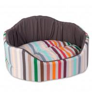 """Лежак для собак и кошек ТМ Природа """"Коралл"""" 3 коричневый 66х57х29 см"""