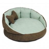 """Лежак для собак и кошек ТМ Природа """"Шарм"""" 2 коричневый 63х63х30 см"""