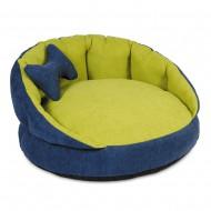 "Лежак для собак и кошек ТМ Природа ""Шарм"" 1 синий 54х54х27 см"