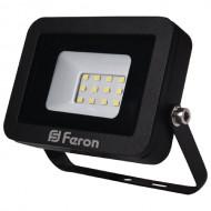 Светодиодный прожектор Feron LL-851 10W черный 6400K, IP 65