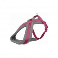 Шлея Trixie нейлоновая Premium туристическая M–L 50–80 см / 25 мм (розовая)