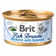 Консервы Brit Fish Dreams 80г для кошек со скумбрией и водорослями