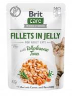 Влажный корм для котов Brit Care Cat pouch 85 г, с тунцом в желе