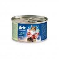 Влажный корм для кошек Brit Premium Turkey & Lamb 200 г, паштет с индейкой и ягненком