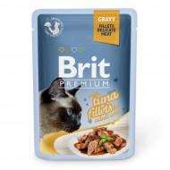 Влажный корм для кошек Brit Premium Cat Tuna Fillets Gravy pouch 85 г, с филе тунца в соусе
