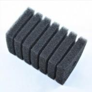 Губка Resan фильтрационная среднепористая рифленая 35ppi, 10х10х20см